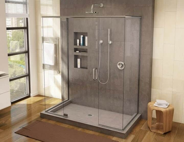 Tile Redi Rectangular Triple Curb Shower Pan